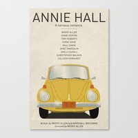 annie hall Canvas Prints featuring Annie Hall tribute poster by kinographics