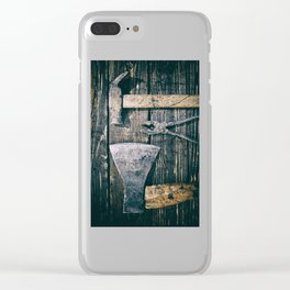 Old rusty tools Clear iPhone Case