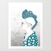 punk Art Prints featuring Punk by katiwo