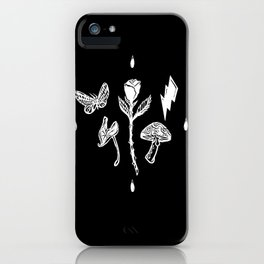 Icon Flora Black and White iPhone Case