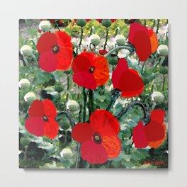 Surreal Poppy Garden Metal Print