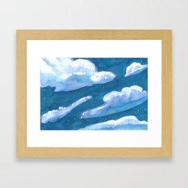 chunk of sky #1 Framed Art Print