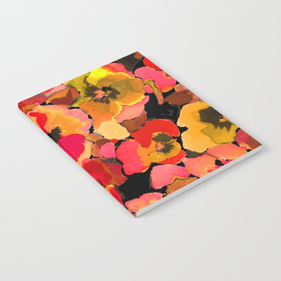 peach  floral Notebook