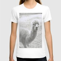 llama T-shirts featuring Llama by Cat In The Sorting Hat