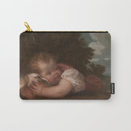 Titian - A Boy With A Bird Carry-All Pouch