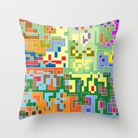 world maps Throw Pillows featuring Maps by Tony Vazquez