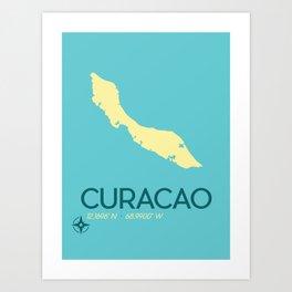 Curacao Island Travel Poster Art Print