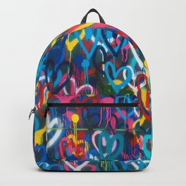 Graffiti Hearts Love (Color) Backpack
