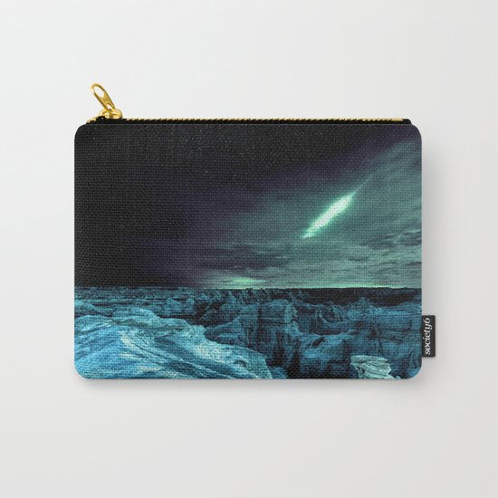 galaxy mountains teal Carry-All Pouch