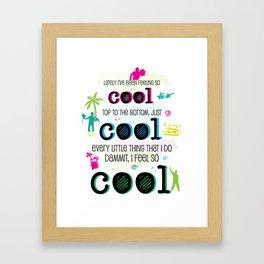 cool cool cool Framed Art Print