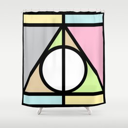 Geometric Deathly Hallow Shower Curtain