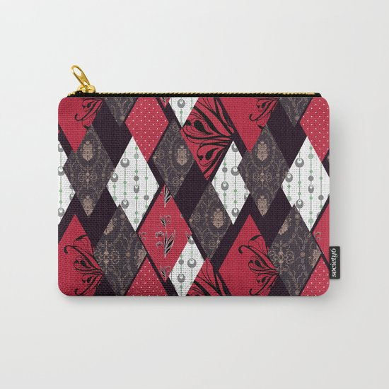 Black-red patchwork . Carry-All Pouch
