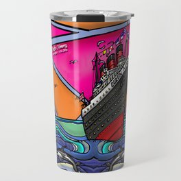Queen Mary and Dolphins Travel Mug