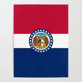 Missouri State Flag Poster