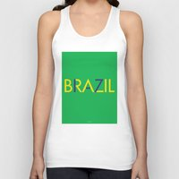 brazil Tank Tops featuring BRAZIL by try2benice