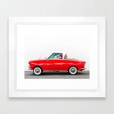 Balloon Car (Horizontal) Framed Art Print