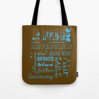 ravenclaw Tote Bags featuring Ravenclaw by husavendaczek