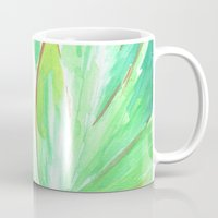 succulent Mugs featuring Succulent by Kristen Laczi