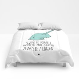Narwhal love Comforters