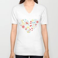 nautical V-neck T-shirts featuring Nautical by lindsey salles