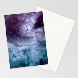 Watercolor and nebula abstract design Stationery Cards