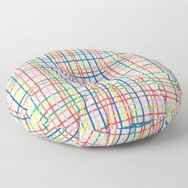 Rainbow Weave Floor Pillow