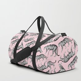 Tigers (Pink and White) Duffle Bag