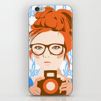 photographer iPhone & iPod Skins featuring Photographer by KylaArt