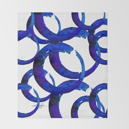 Enso Of Zen No. 21 by Kathy Morton Stanion Throw Blanket