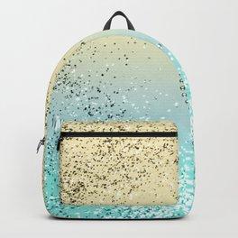 Sparkling Lemon Twist Beach Glitter Heart #1 #shiny #decor #art #society6 Backpack