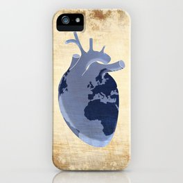 The earth is our heart - EARTH DAY '16 - all artist profits to be donated iPhone Case