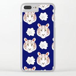 Auburn navy Clear iPhone Case