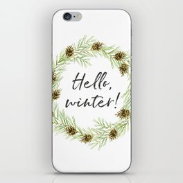 Hello, winter wreath. Cones and twigs iPhone Skin