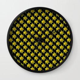 Daffodil On Black Wall Clock