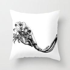 Prehistoric Bloom - The Mastodonte Throw Pillow