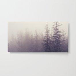 Abetos. Retro panoramic. Metal Print
