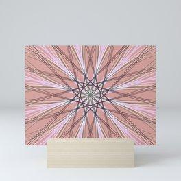 Red Abstract Geometric Star Art - c13524.6 Mini Art Print