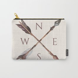 Wander Boho Rose Compass Carry-All Pouch