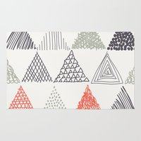 triangle Area & Throw Rugs featuring Triangle by samedia