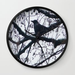 Creature of snow Wall Clock