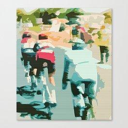 tete de la course   Canvas Print