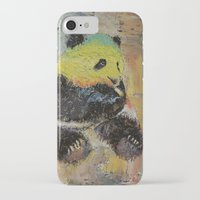 rasta iPhone & iPod Cases featuring Rasta Panda by Michael Creese