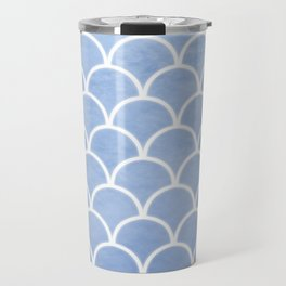 Beautiful textured large scallops in serenity blue Travel Mug