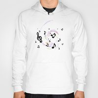 music notes Hoodies featuring Music Notes by gretzky
