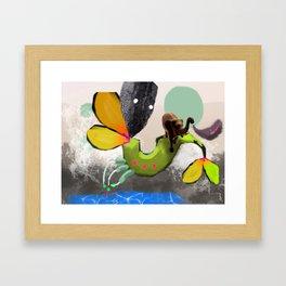 Elephant Secret Framed Art Print