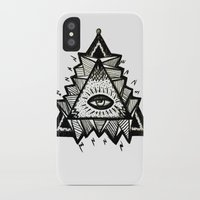 third eye iPhone & iPod Cases featuring Third Eye by Eco Juliet