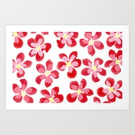 Posey Power - Red Multi Art Print