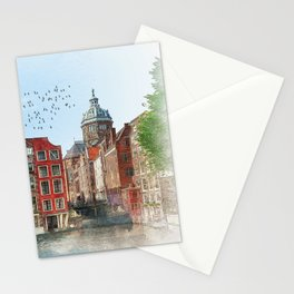 Embankments of Amsterdam. The Netherlands. Stationery Cards