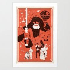 IV (Red) Art Print