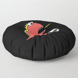 Black Cartoon Dinosaur Soccer Floor Pillow